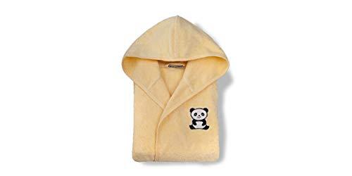 Grace Albornoz infantil Panda 86-92, amarillo, 100% algodón