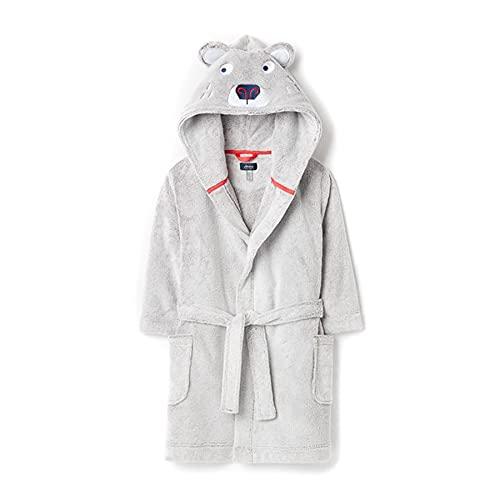 Joules Bearhug - Albornoz para niños, Oso gris., 5-6 Years