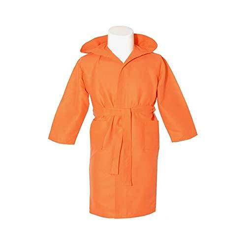 10XDIEZ Albornoz Microfibra Infantil Naranja | (10 años - Naranja)