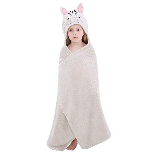 COOKY.D - Toallas de baño para bebé con capucha, albornoz de animales de gran tamaño para niños y niñas, regalo de ducha de bebé perfecto para niños y niñas de 0 a 7 años, cebra, Talla única
