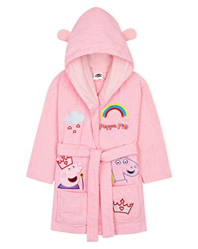 Peppa Pig Albornoz Niña 100% Algodón, Albornoz Bebe y Niña de 18 Meses a 6 Años, Regalos para Niñas (Rosa, 4-5 Años)