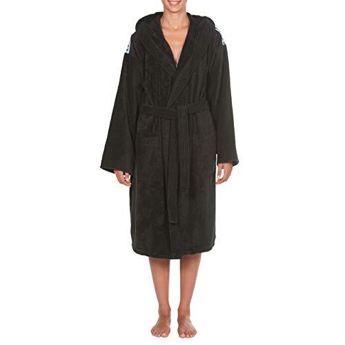 Arena Core Soft Robe Bathrobes, Adultos Unisex, Black White, XS