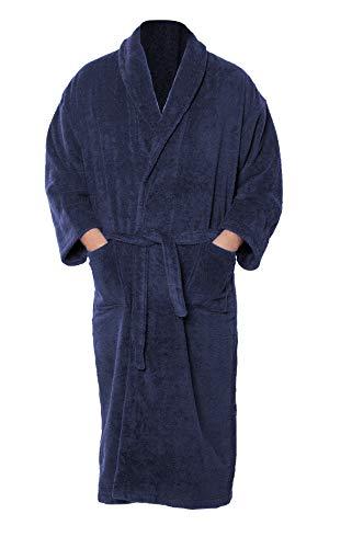 Graphic Impact Ltd Albornoz unisex súper suave para el hogar, spa, gimnasio, chal 100% algodón egipcio de rizo liso