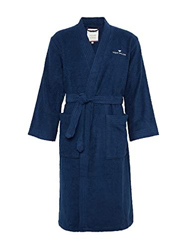 Tom Tailor 0100300 Bata de baño Frotar Tamaño L, Navy, algodón, Azul Marino