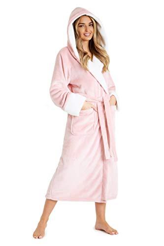 CityComfort Bata de Casa Para Mujer, Albornoz Mujer de Forro Polar, Regalos Mujer S-XL (Rosa, S)