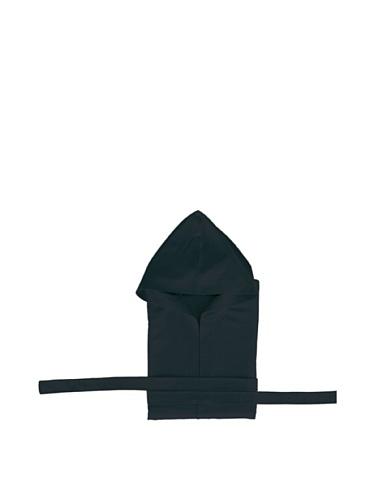 Secaneta albornoz de microfibra con capucha, unisex, negro (Negro), XL
