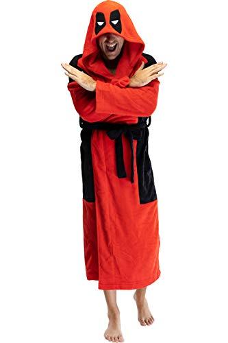 Marvel Deadpool hombres adultos de disfraz túnica de lana Albornoz - Estándar