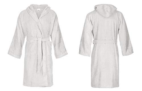 Bassetti - Albornoz con capucha para hombre/mujer, disponible en varias tallas y colores, 100% algodón