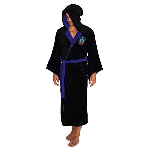 Groovy Ravenclaw Harry Potter - Albornoz con capucha, poliéster, color negro, talla única