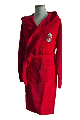 MILAN - Albornoz para niño, Rojo, 4-6 años