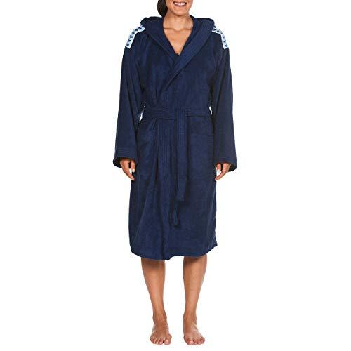 Arena Core Soft Robe Bathrobes, Adultos Unisex, Navy White, XL