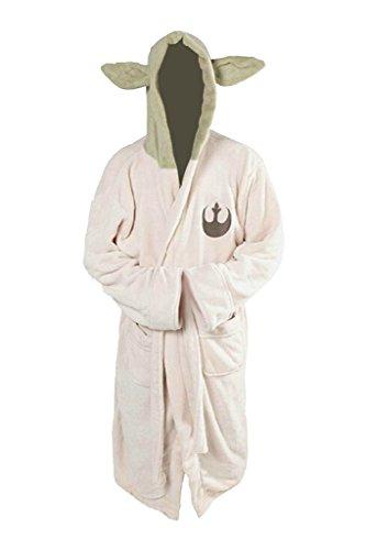Yoda Jedi - Albornoz de forro polar con capucha para cosplay (talla adulta)