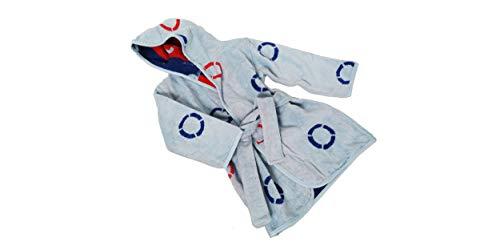 Grace Albornoz infantil de 100% algodón, diseño de salvavidas, color azul claro