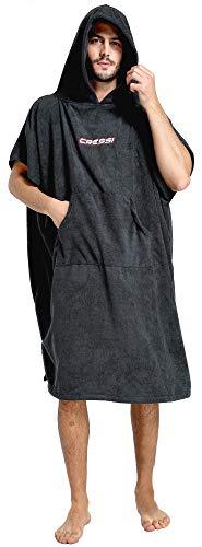 Cressi Poncho Robe Albornoz/Toalla, Hombres, Negro, M/L 85/110 cm