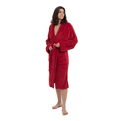 Lumaland Bata de Baño en Microfibra para Hombre y Mujer - Albornoz Unisex de Ducha con Capucha, Cinturón y Bolsillos - Diseño Cómodo, Duradero y Versátil - Tallas S, M , L & XL