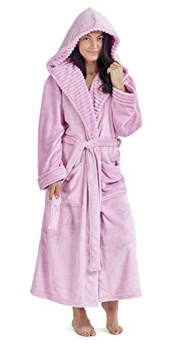 CityComfort Vestidos de Mujer Bata de pingüino Búho Vestidos de Lujo para Mujer Batas de Felpa Novedad Animal Hood Super Soft Touch Fleece Batas de baño para Ella (Bebé Rosa, L)