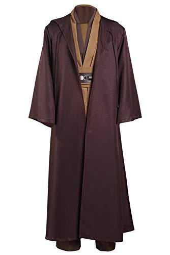Kenobi Jedi TUNIC Disfraz de Cosplay Versión Marrón Hombre XXXL