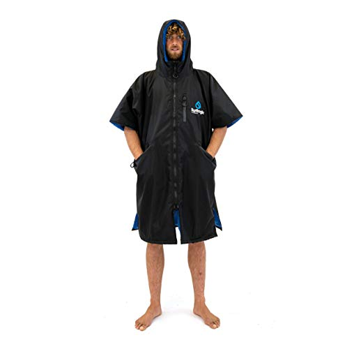 SURF LOGIC Surflogic Storm Robe Short Sleeve M Albornoz, Adultos Unisex, Negro (Negro)