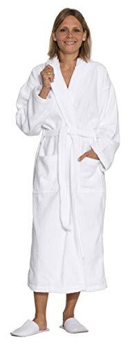 ZOLLNER Albornoz de Ducha para Hombre y Mujer algodón, Color Blanco, talla S