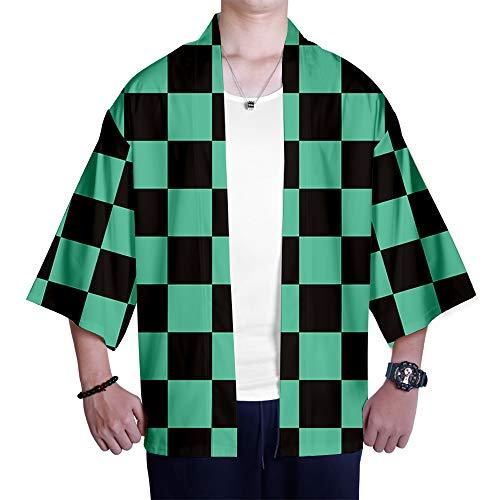 Kimono Demon Slayer: Kimetsu no Yaiba Estampado Cardigan Camisa Cosplay Tshirt Japonés Elegante Kimono Albornoz Verano Pijamas Kamado Tanjirou Kamado Nezuko Agatsuma Zenitsu Tomioka Giyuu