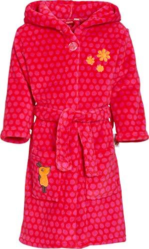 Playshoes Fleece-Bademantel Die Maus Pink Albornoz, Rosa (Original 900), 146 (Talla del Fabricante: 146/152) para Niñas