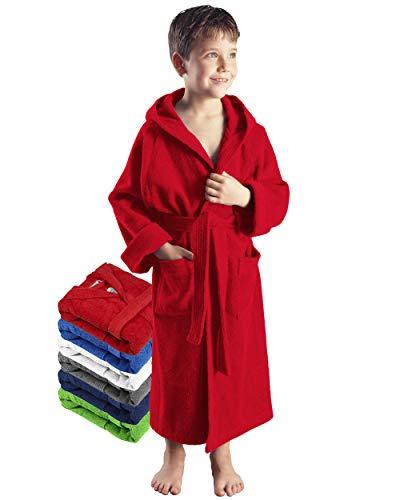 Arus - Albornoz niños, tamaño: 116, Color: Rojo