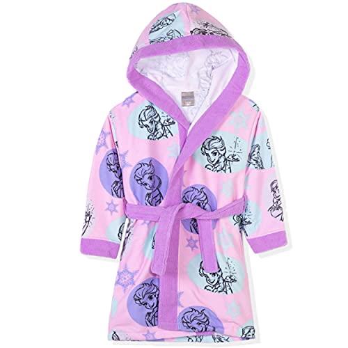 Disney Frozen, Minnie Mouse Character - Albornoz con capucha para niña (2 a 8 años), Morado (, 3-4 Años