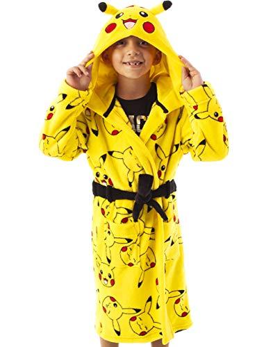 Pokèmon Pikachu Amarillo Niños Bolsillo Delantero Albornoz