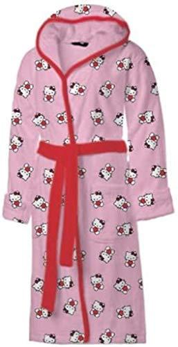 Frip - Albornoz de Hello Kitty en caja de regalo (140/152, aprox. 10-12 años)