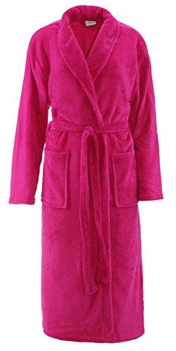 Brandsseller - Albornoz de microfibra, unisex, para hombre y mujer, tallas: S/M – L/XL, en los colores: crema, rosa, marrón, azul marino y gris rosa L XL