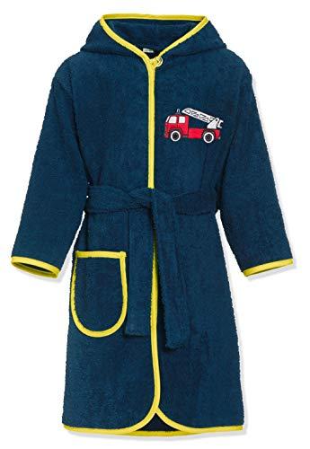 Playshoes Frottee-Bademantel Feuerwehr Albornoz, Azul (Marine 11), 86/92 para Niños