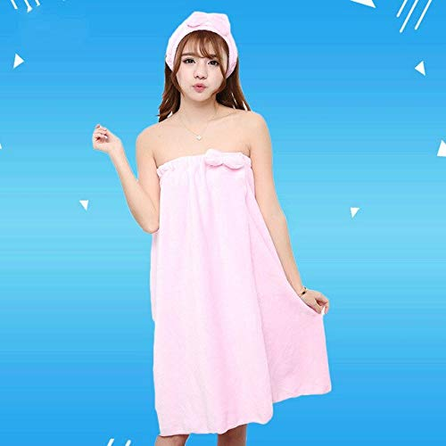 Xiaobing Toalla de baño Absorbente portátil para Mujer Sexy + Gorro de Pelo Juego de Toallas de baño Arco Albornoz -07-120x75cm