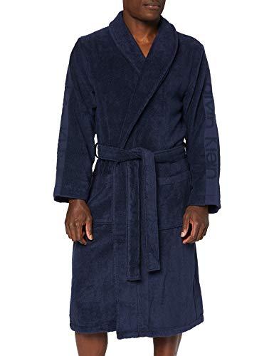Calvin Klein Robe Albornoz, Azul (Blue Shadow 8sb), Large (Talla del fabricante: L-XL) para Hombre