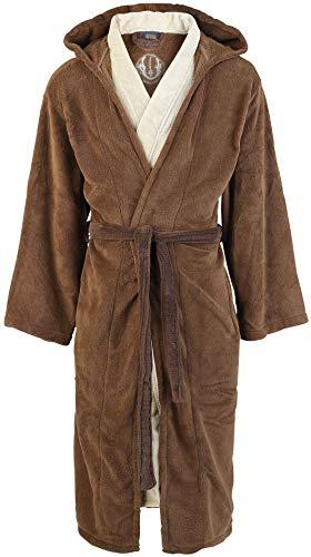 Star Wars Jedi Unisex Bata marrón/beige, 100% poliéster, seitlichen Eingrifftaschen, Stickerei Regular