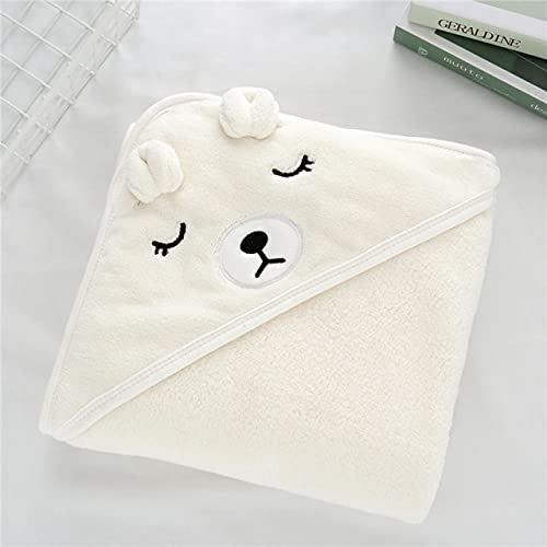 FISISZ Toallas con Capucha para bebés pequeños Albornoz para niños recién Nacidos Toalla de baño Suave Manta Abrigo cálido para Dormir para bebés Niños Niñas-Beige