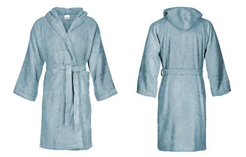 Bassetti - Albornoz con capucha para hombre/mujer, disponible en varias tallas y colores, 100% algodón Sky 3XL/grande