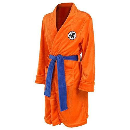 Albornoz para niños Adultos Dragon Ball Cosplay Son Goku Disfraz Bata de baño Patrón de Ropa de Dormir Bata de Felpa Mujeres Hombres Pijamas Dibujos Animados