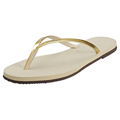 Havaianas You Metallic, Sandalias para Mujer, Dorado (Sand Grey/Light Golden), 35/36 EU