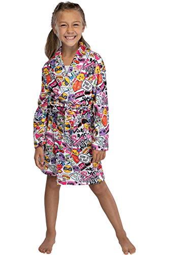 LOL sorpresa! Girl Glam Emojicon Emoji Pajama Robe 6/6X