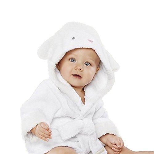 Minuya - Albornoz unisex con capucha, en algodón, para bebés y niños de 0 a 6años, ideal como regalo Oveja pequeña