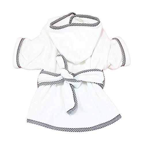 AILOVA Albornoz para perros con cinturón en la cintura, fácil de llevar, para cachorros, gatos, cachorros de talla media, toalla para perros de microfibra superabsorbente (S)