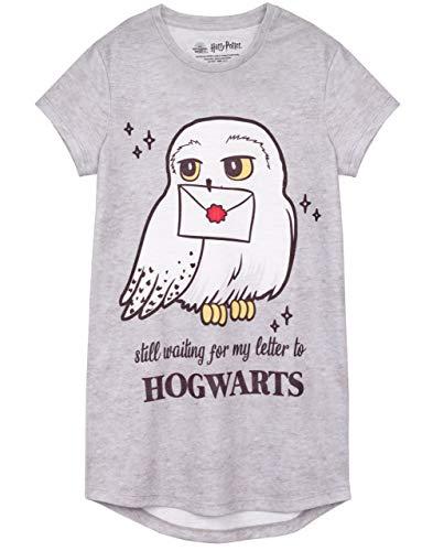 HARRY POTTER Vestido Nocturno Hedwig Hogwarts Niños de Chica Niños Nightgown 7-8 años