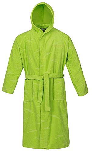 Speedo Basic Jacquard Albornoz, Hombre, Verde (Apple Green), S