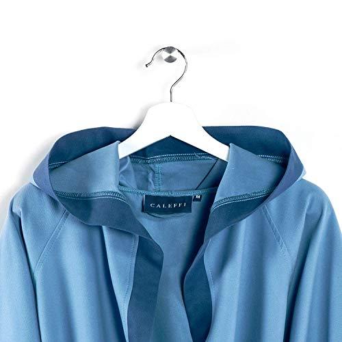 Caleffi Albornoz con capucha TECNO microfibra (azul, talla M)
