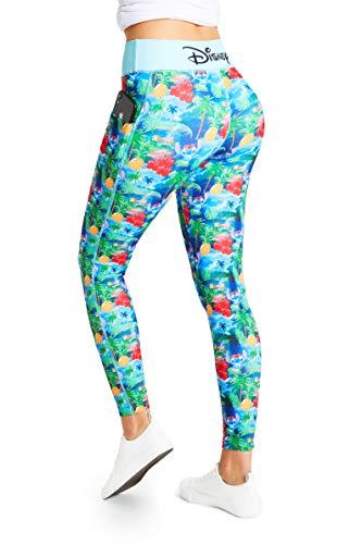 Disney Lilo y Stitch Leggins Mujer, Mallas de Deporte de Mujer Correr Yoga Gimnasio, Ropa Deportiva Mujer, Regalos para Mujer y Adolescentes Talla XS-2XL (Multi, XS)