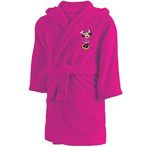 CTI 043754Minnie - Albornoz de algodón para niña 2/4años, Rosa