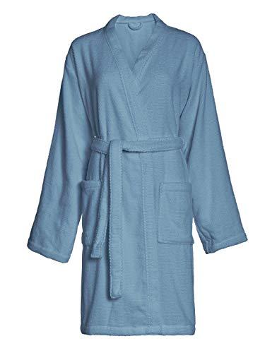 Marc O'Polo Tali Bathvestido - Albornoz 100% algodón Terry, Color Azul, M