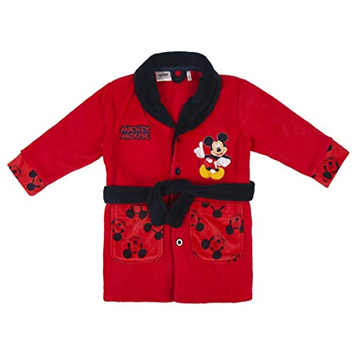 CERDÁ LIFE'S LITTLE MOMENTS Bata de Niño Mickey-Licencia Oficial Disney, Rojo, 04A para Niños