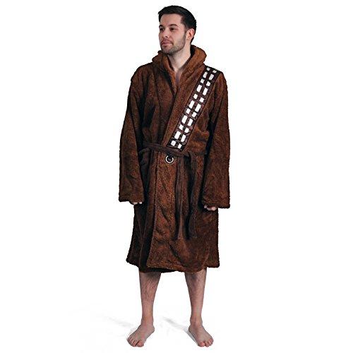 Albornoz unisex con capucha de Star Wars Groovy New Fleece Chewbacca para adultos Chewbacca marrón Talla única