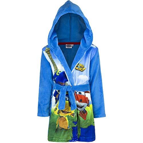 Super Wings - Albornoz para niño azul celeste 104 cm